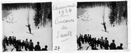27 Chamonix 1924. Concours de sauts