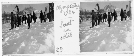 29 Olympiades 1924. Saut en skis