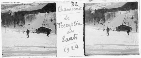 32 Chamonix. Le tremplin des sauts 1924
