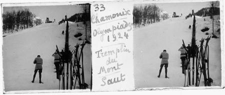 33 Chamonix. Olympiades 1924. Tremplin du Mont [Blanc]: saut