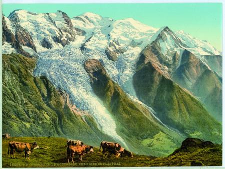 16488 Chamonix. Le Montblanc. Vue prise de Planpraz.