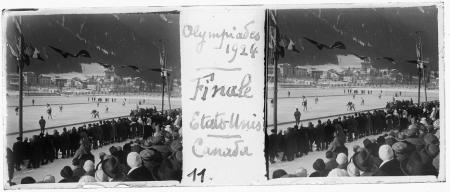 11 Olympiades 1924. Finale Etats-Unis Canada