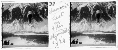 38 Chamonix. Saut en skis. Olympiades 1924