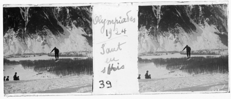 39 Olympiades 1924. Saut en skis