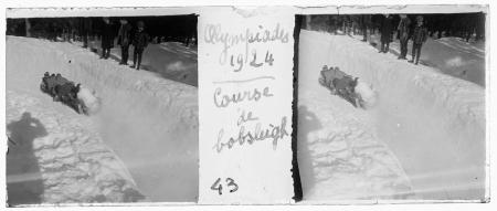 43 Olympiades 1924. Couse de bobleigh