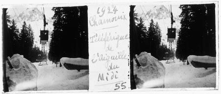55 1924 Chamonix. Téléférique de l'Aiguille du Midi