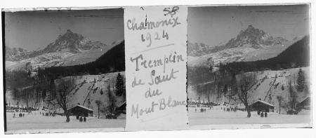 58 Chamonix 1924. Tremplin de saut du Mont Blanc