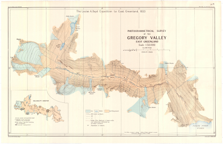 Photogrammetrical survey of the Gregory Valley : east Greenland