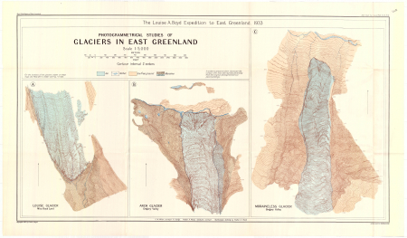 Photogrammetrical studies of glaciers in east Greenland