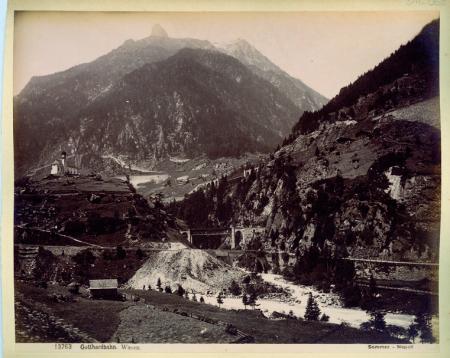 [13763 Gotthardbahn. Wasen, 215 Lugano veduta dall'Hotel Washington]