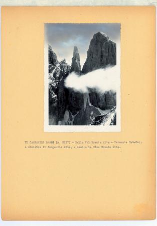 Il Campanile Basso (m. 2877) dalla Val Brenta Alta. Versante Sud-Est
