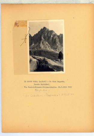 Il Monte Sierra (m. 2448) da Cima Sappada. Parete Nord-Est