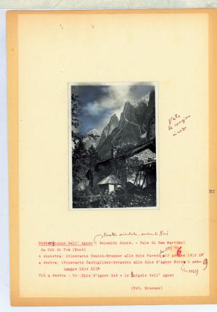 Gruppo dell'Agner. Pale di San Martino, Dolomiti Occid. Tratto Orientale - Versante Nord