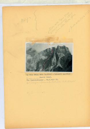 La Cima della Beta (m. 2704) - Dolomiti Agordine. Parete Ovest