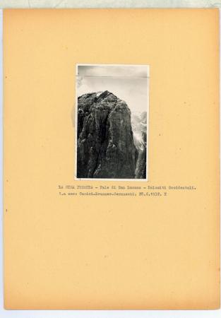 La Cima Premuda - Pale di S. Lucano. Dolom. Occid.