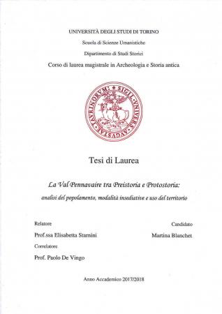 La Val Pennavaire tra Preistoria e Protostoria: analisi del popolamento, modalità insediative e uso del territori