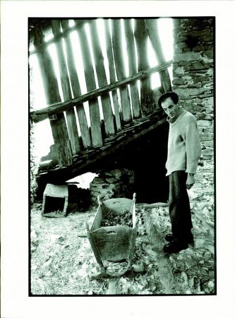 Martino Giordana, detto Martin del Torc, Caudano di Stroppo (m 1129), alta Valle Maira, agosto 1978