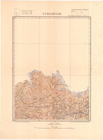 Curahuasi : carta nacional departamento de Cusco hoja 13 g