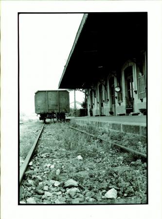 Stazione di Dronero, Valle Maira, ottobre 1978
