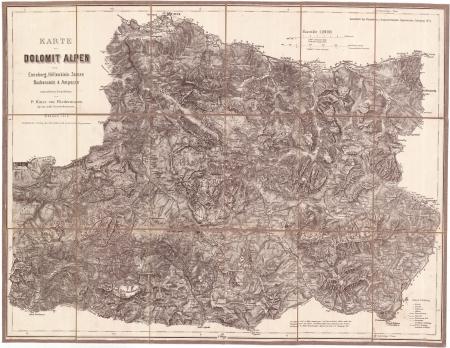 Karte der Dolomit Alpen