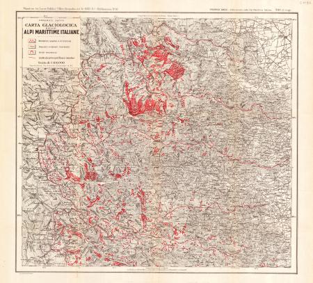 Carta glaciologica delle Alpi Marittime italiane. Tav. 1 (sup.)