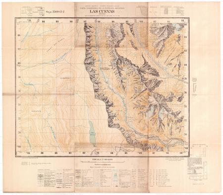 Las Cuevas : Mendoza : hoja 3369-13-2