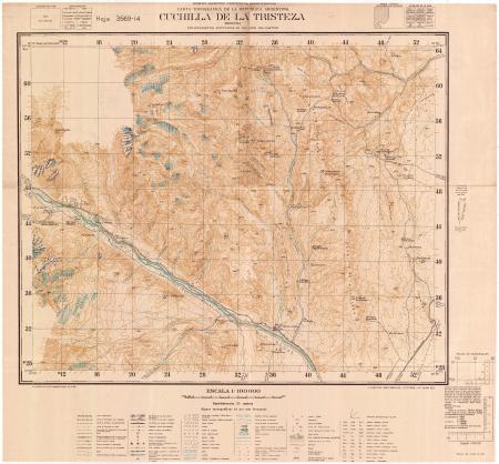 Cuchilla de la Tristeza : Mendoza : hoja 3569-14