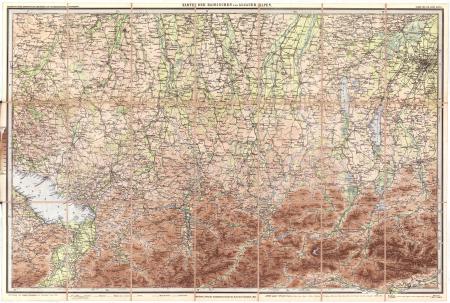 Blatt 1: *Karte der Bairischen und Algäuer Alpen