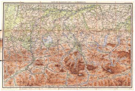 Blatt 2: *Karte der Salzburger-Alpen und des Salzkammerguts