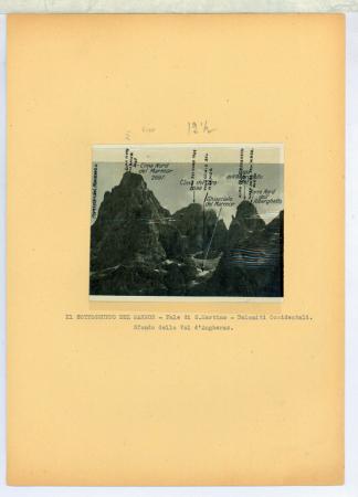 Il Sottogruppo del Marmor - Pale di S. Martino - Dol. Occid. Sfondo della Val d'Angheraz