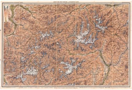 Blatt 4: *Karte der West-Tiroler und Engadiner Alpen