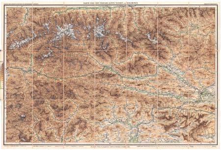 Blatt 5: *Karte der Ost-Tiroler Alpen, Tauern und Dolomiten