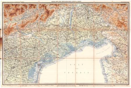 Blatt 8: *Karte der Süd-Venetianischen Alpen und Karst