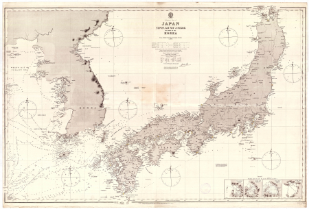 Preliminary chart of Japan, Nipon, Kiusiu & Sikok and part of the Korea