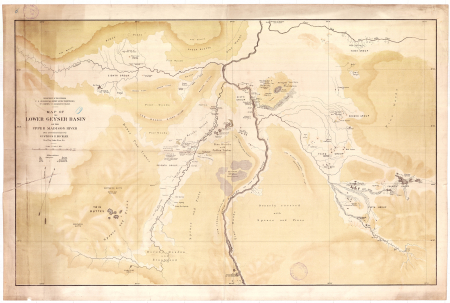 Map of the lower Geyser Basin on the upper Madison river
