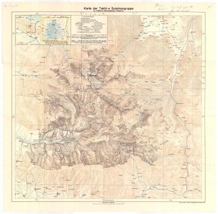 Karte der Takht-e Sulaimangruppe im mittleren Alburzgebirge, Nordiran