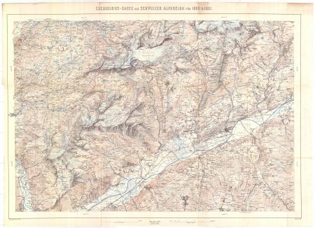 Excursions-Carte des Schweizer Alpenclub für 1880 & 1881