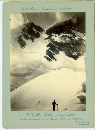 [Riprese varie del Monte Rosa nel versante valsesiano, Punta Giordani e Aiguille Verte]