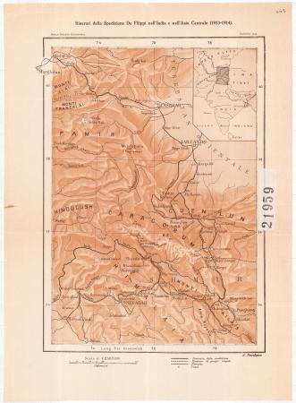 Itinerari della spedizione De Filippi nell'India e nell'Asia Centrale (1913-1914)