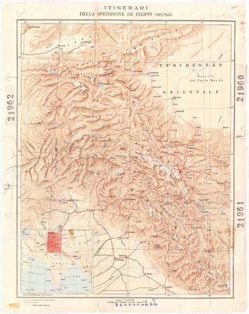 Itinerari della Spedizione De Filippi (1913-1914)