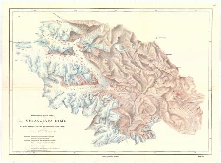 Il ghiacciaio Rimu e la zona dell'altopiano fino al passo del Caracorùm