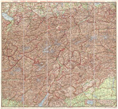 Ravenstein's Radafhrer- und Automobilkarte der Ostalpen. Westiches Blatt : [Tirol, Vorarlberg und Dolomiten]