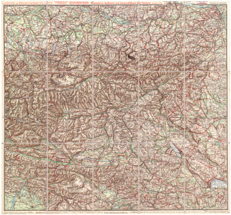 Ravenstein's Radafhrer- und Automobilkarte der Ostalpen. Östliches Blatt