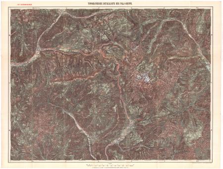 Topographische Detailkarte der Pala-Gruppe