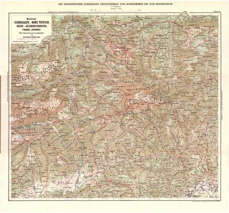 Blatt 2 : Westliche Schneealpe, Hohe Veitsch, Zeller u. Aflenzer-Staritzen, Tonion u. Student