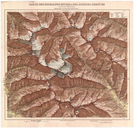 Karte der Hochalpen-Spitze & des Ankogel-Gebietes