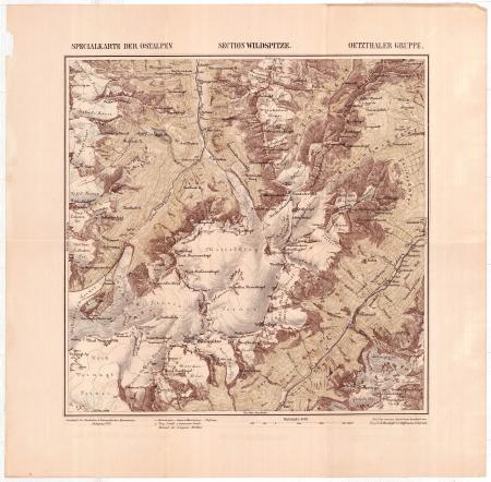 Specialkarte der Ostalpen : Section Wildspitze : Oetzthaler Gruppe