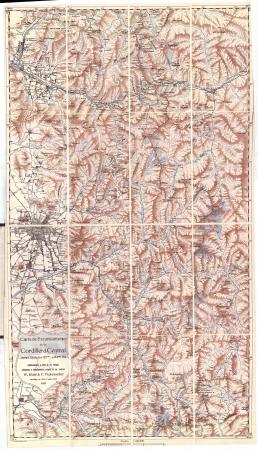 Carta de excursionismo de la Cordillera Central