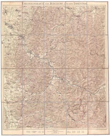 Exkursionskarte von Burgdorf und dem Emmenthal
