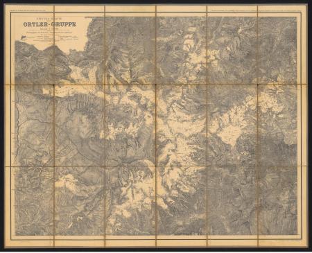 Special-Karte der Ortler-Gruppe